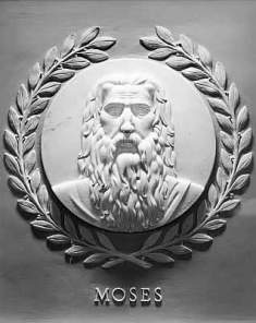 Moses Bas Relief in the U.S. House of Representatives